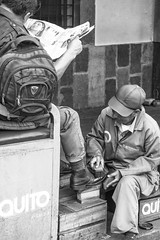 Shoeshine (blokfam9739) Tags: adult ecuador people peopleandculture quito southamerica streetphotography
