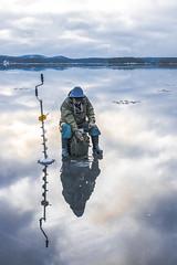 Ice fishing on the lake Kallavesi (VisitLakeland) Tags: finland kallavesi kuopio kuopiotahko lakeland landscape ice järvi jää kjärvenjää lake luonto maisema nature outdoor scenery