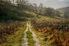SaturdayWalk (Tony Tooth) Tags: nikon d7100 nikkor 40mm hdr countryside track path pathway footpath landscape walking walkers january hulmeend staffs staffordshire narrowdale