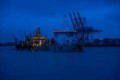 Blue Hour (gklheim) Tags: hamburg holliday blue hour port germany night landscape elbe water river