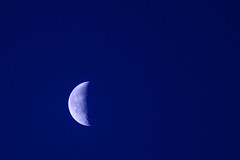 Morning bleus (Richard Oude Egbrink) Tags: morning moon maan morgen bleus blauw vroeg almere pentax pentaxian