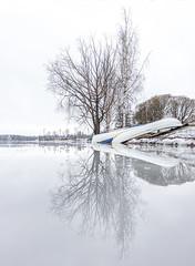 Reflection on ice (VisitLakeland) Tags: finland kallavesi kuopio kuopiotahko lakeland landscape ice järvi jää kjärvenjää lake luonto maisema nature outdoor scenery