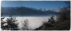 Il mare in Valle d'Aosta (iRe V) Tags: aosta mare valle daosta sea view fog cloud winter snow blue sky nebbia alps itay vda valley arpuilles routes des salasses morning above clouds