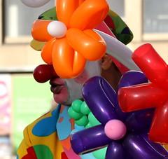 Who's hiding ? (Ingrid Friis Photo) Tags: colors ballons ballonger clown scania sweden malmöfestivalen