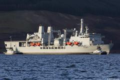 RFA Fort Victoria, A387, IMO 8606032; Loch Striven, Cowal, Scotland (Michael Leek Photography) Tags: ship warship navalvessel navalauxiliary rfa royalfleetauxiliary vessel replenishmentship a387 lochstriven firthofclyde clyde scotland westcoastofscotland westernscotland scottishcoastline scottishshipping scotlandslandscapes cowal cowalpeninsula argyllandbute argyll rn tugs workingboat workboat royalnavy hmnbclyde hmnb nato michaelleek michaelleekphotography