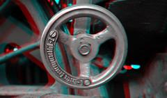 Afsluiter Loc 01-1075 SSN Rotterdam 3D (wim hoppenbrouwers) Tags: afsluiter loc 011075 ssn rotterdam 3d anaglyph stereo redcyan gf3 lumix bw