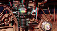 Overhaul Loc 01-1075 SSN Rotterdam 3D (wim hoppenbrouwers) Tags: loc ssn overhaul 011075 lumix 3d rotterdam anaglyph stereo restoration steamlocomotive redcyan gf3
