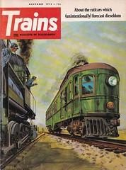 Trains Magazine (heytampa) Tags: trains art artwork trainsmagazine 1973 cover