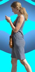 Walk & Phone (Scott 97006) Tags: woman female lady blonde walking phone pretty