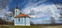 A blue chapel in Hungary (Szemeredi Photos/ clevernails) Tags: hungary szálka village hill chapel panorama cloud blue spring composition visit view