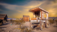 Clark County Cart (emiliopasqualephotography) Tags: wagon cart sunset west western ghosttown