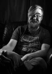 Smiling (Jonathan Goddard1) Tags: sonyalpha a7m3 a7iii tamron28—75mmf28 selfportrait portrait male man monochrome
