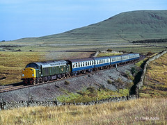 D200 At Blea Moor (chrissyMD655) Tags: sc settle carlisle class 40 br green livery d200 40122 blea moor ribblehead