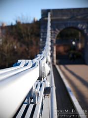 Suspense - IMG_7911 - Edited (406highlander) Tags: canoneos6d tamronsp2470mmf28divcusd aberdeen scotland bridge wellingtonsuspensionbridge chainbridge craiglugbridge suspensionbridge river riverdee water depthoffield