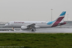 OO-SNN - 2010 build Airbus A320-214, operating for Brussels Airlines but still in Eurowings colours (egcc) Tags: 4269 a320 a320214 airbus bel brusselsairlines dabfe egcc eurowings lightroom man manchester oeloe oosnn ringway sn