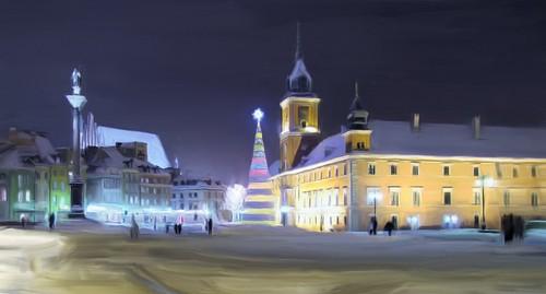 Zamek Królewski zimą