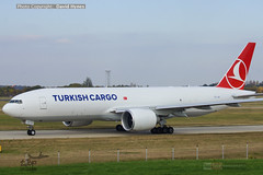 Turkish Cargo TC-LJR Boeing 777 at London Stansted Airport up close (bananamanuk79) Tags: planewatch aviation airplane airport london flying flight avgeek airways flyer flyers airplanes aicraft airlines planespotter stansted stn planes aerozone turkish turkey airbus cargo boeing boeing777 b777 tcljr