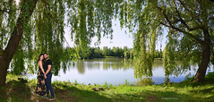 Love is in the air...#2 (Szemeredi Photos/ clevernails) Tags: hungary composition view panorama walk memory lake tree island love couple water spring