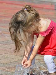 Water Play (Scott 97006) Tags: kid girl female dress water fountain play cute