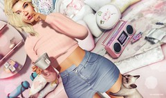 We got audio.. (Sistine Kristan (Sisely) - Toolbox Chicks) Tags: gaia kustom9 kelly outfit denim cat monso mesh maitreya blog blogger photography sl secondlife virtual apricot tea time haikei amitomo food court event