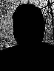 My Silhouette (ricko) Tags: selfportrait silhouette bw werehere 18366 2020 window trees backyard