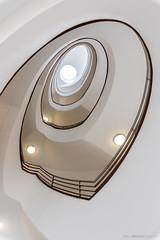 Stairship Enterprise II (bjoernahrensfotografie) Tags: munich münchen abstract abstrakt treppe treppenhaus spiral stairs staircase architecture architektur lookup