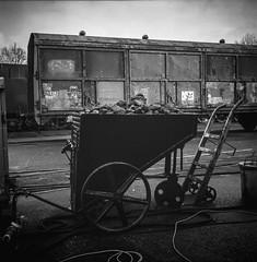 Coal Transporter (Ric Evers) Tags: steamtrain coal blackandwhite bw lieren gelderland