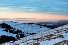 Depuis La Berra (Nicolas Luginbühl) Tags: hiver winter fribourg cantondefribourg switzerland suisseromande mountains montagne evening canon paysage landscape