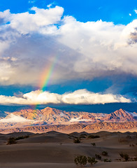 Sunset Rainbow - Death Valley (Dino Sokocevic) Tags: nationalpark nature landscape clouds sunset nikon southwest west desert california
