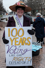 100 years of voting like our rights depend on it (ep_jhu) Tags: x100f women washington american dress rights america lady dc fujifilm mujer us hat voting sign rally march womensmarch protest woman fuji period era usa clothing political capitol districtofcolumbia unitedstatesofamerica