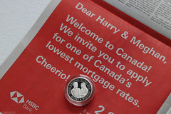 Prince Harry & Meghan, welcome to debt! (Can Pac Swire) Tags: bullion hsbc banking bank bankology canada newspaper canadian globeandmail globemail advert ad advertisement mortgage moving royal family british prince harry meghan markle silver coin royalmint wedding piedfort commemorative 2020aimg9109 making fun