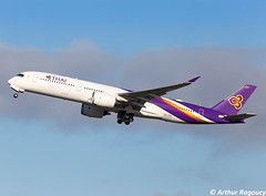 Thai Airways Airbus A350-941 HS-THH (CDG) (Arthur Ragoucy) Tags: thai airways airbus a350941 hsthh cdg