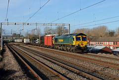 66956 Mancetter (CD Sansome) Tags: mancetter wcml west coast main line train trains freightliner shed 66 66956 crewe basford hall wembley receptions 17