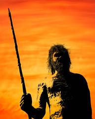 Aboriginal (Kevin Rheese) Tags: sculpture man westernaustralia silhouette statue spear wyndham aboriginal australia indigenous native culture heritage