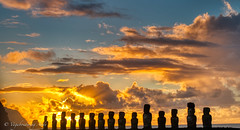 Sunrise in Easter Island is Spectacular! (Vagabondering.Andy) Tags: easterisland best chile polynesian sunrise scenic moai ahutongariki