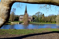 Clumber Park January 2020 (LMW76) Tags: clumber park national trust nottinghamshire january 2020 sunny blue sky clear landscape water lake reflection trees chapel church building