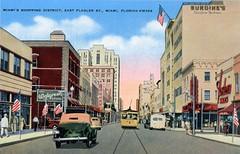 Flagler Street Downtown Miami Vintage Postcard (Phillip Pessar) Tags: flagler street downtown miami vintage postcard ebay purchase mccrory kress walgreens burdines streetcar