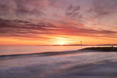 A sunny weekend! (Christine down south) Tags: highcliffe dorset southcoast groyne rocks beach sunset