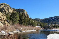 At the End of the Road (Patricia Henschen) Tags: elevenmilecanyon lakegeorge colorado pikenationalforest tellercounty southplatteriver river canyon water southplatte winter snow pike nationalforest rural backroad mountains forest national