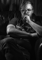 Serious Thought (Jonathan Goddard1) Tags: sonyalpha a7m3 a7iii tamron28—75mmf28 selfportrait portrait male man monochrome