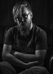 Serious Self-Portrait (Jonathan Goddard1) Tags: sonyalpha a7m3 a7iii tamron28—75mmf28 selfportrait portrait male man monochrome