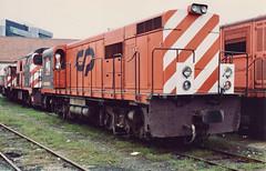Diesel-electric locomotice CP series 9021-9031 (ernstkers) Tags: viaestreita locomotive portugal metregauge alsthom cp diesellocomotive porto narrowgauge railway