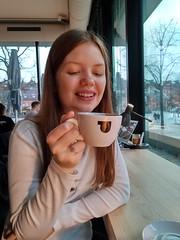 My daughter at Public Coffee Roasters in Hamburg! (jens christian4) Tags: coffee hamburg