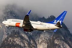 SAS LN-RRB 11-2-2020 (Enda Burke) Tags: avgeek aviation airplane airport av8 canon canon7dmk2 sas scandinavian scandinavia london b737700 boeing737700 travel takeoff departure planes plane inn innsbruck lowi austria boeing boeing737