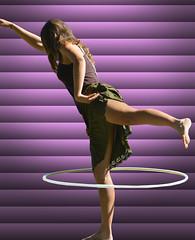 One Foot Hooping (Scott 97006) Tags: girl female lady woman hoop dance cute performance blinds