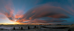 Fiery Lenticular Morning (Northern_Nights) Tags: sunrise firesky redsky pano panorama cheyenne wyoming lenticularclouds