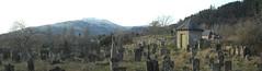 Old graveyard in Callander (daviemoran1) Tags: callander trossachs graves cemetry graveyard panorama snow trees hills scenic winter