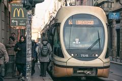 Italy - Milan (SergioQ79 - Osanpo Photographer -) Tags: italy italia milan tram 14 via street stop january 2020 nikon d7200 woman girl man people road