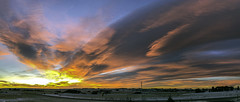 Fiery Lenticular Morning_B (Northern_Nights) Tags: sunrise firesky redsky pano panorama cheyenne wyoming lenticularclouds