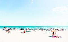 On the Beach (Trey Ratcliff) Tags: newyork coney island beach people sunbathe sea ocean atlantic sand treyratcliff stuckincustoms stuckincustomscom